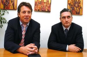 Кирил Домусчиев (вдясно) и немският партньор Крастен Ролинг.